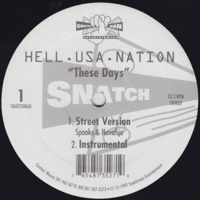 Hell.Usa.Nation – These Days / Stay On Top (1997)