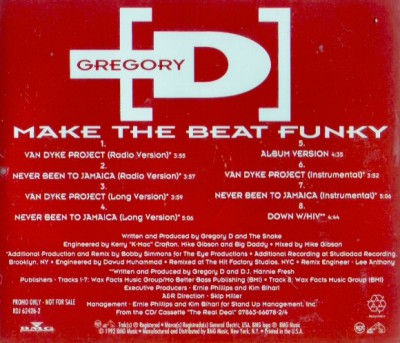 Gregory D – Make The Beat Funky (1992)