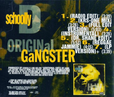Schoolly D ‎- Original Gangster (1991)