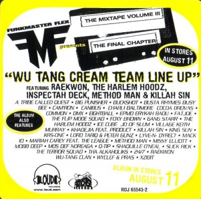 Funkmaster Flex – Wu-Tang Cream Team Line Up (1998)