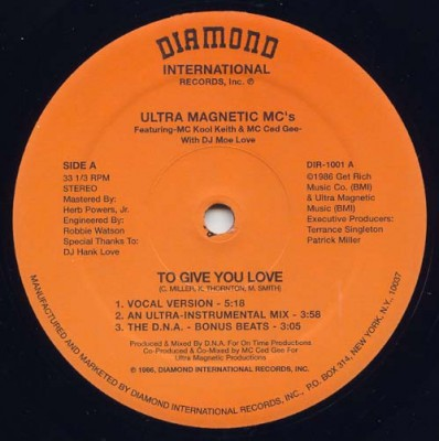 Ultramagnetic MC's – To Give You Love / Make You Shake (1986)