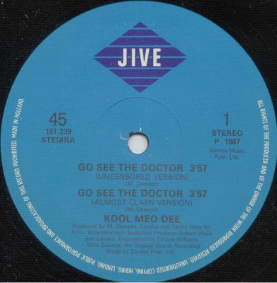 Kool Moe Dee – Go See The Doctor / Monster Crack (1986)