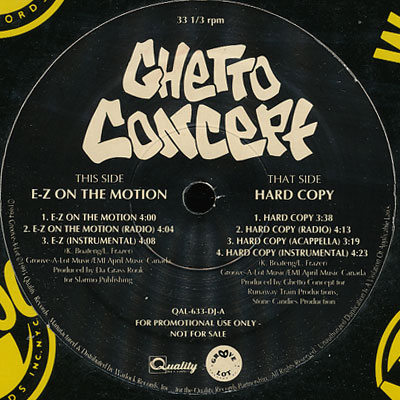 Ghetto Concept – E-Z On The Motion / Hard Copy (1994)
