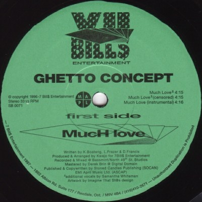 Ghetto Concept – Much Love / U.L. (1996)